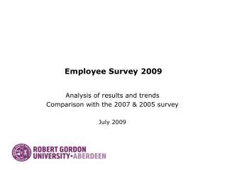 Employee Survey 2009