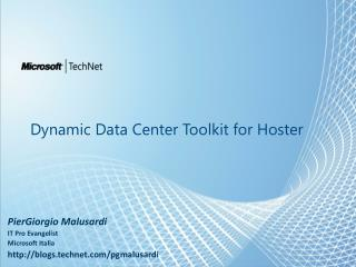 Dynamic Data Center Toolkit for Hoster
