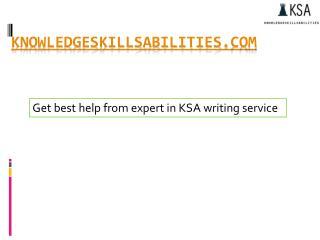 Get best help from expert in KSA writing service