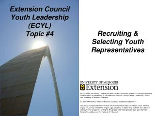 Extension Council Youth Leadership  (ECYL) Topic #4