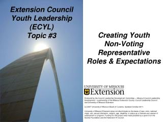 Extension Council Youth Leadership (ECYL) Topic #3