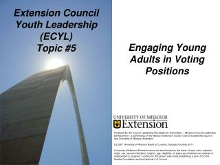 Extension Council Youth Leadership (ECYL) Topic #5
