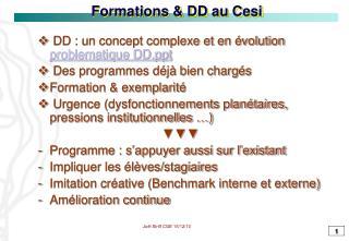 Formations & DD au Cesi