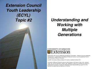 Extension Council Youth Leadership (ECYL) Topic #2
