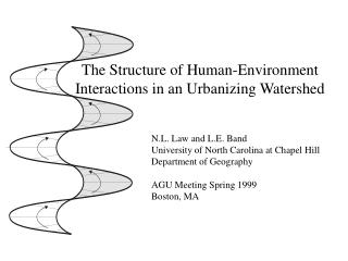 The Structure of Human-Environment Interactions in an Urbanizing Watershed