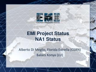 EMI Project Status NA1 Status
