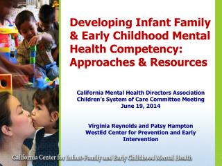 Developing Infant Family & Early Childhood Mental Health Competency:  Approaches & Resources