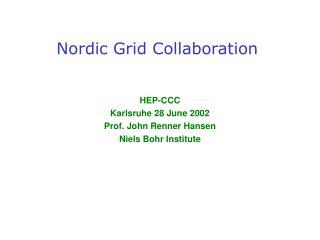 Nordic Grid Collaboration