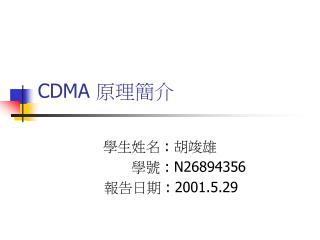 CDMA  原理簡介
