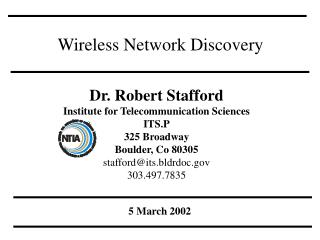 Wireless Network Discovery