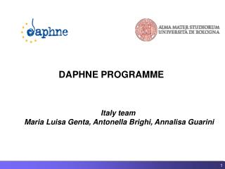 DAPHNE PROGRAMME