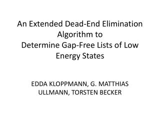 An Extended Dead-End Elimination Algorithm to Determine Gap-Free Lists of Low Energy States