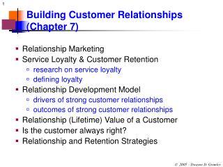 Building Customer Relationships Chapter 7