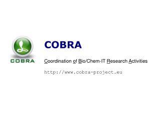 COBRA C oordination  o f  B io/Chem-IT  R esearch  A ctivities cobra-project.eu