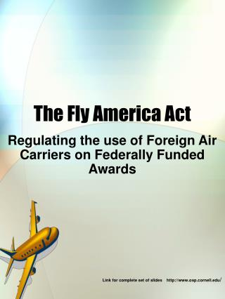 The Fly America Act