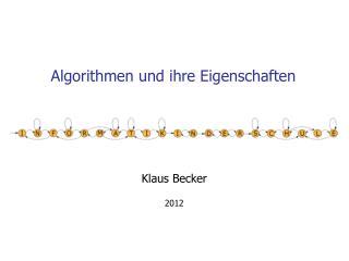 Algorithmen und ihre Eigenschaften