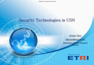Security Technologies in USN