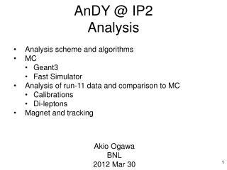 AnDY @ IP2 Analysis