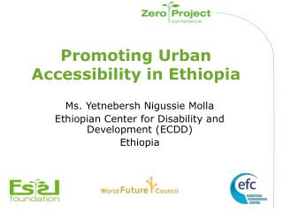 Promoting Urban Accessibility in Ethiopia