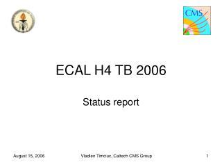 ECAL H4 TB 2006
