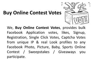 Buy Facebook Votes Online