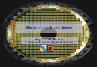 Electromangetic calorimeter