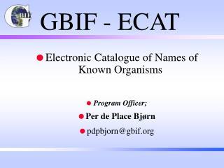 GBIF - ECAT