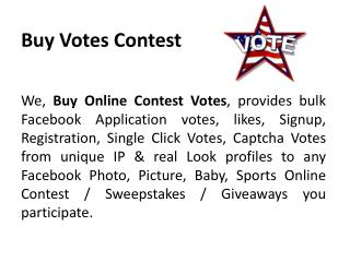 Buy Votes Contest