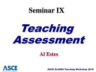 Seminar IX