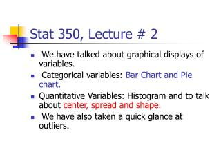 Stat 350, Lecture # 2
