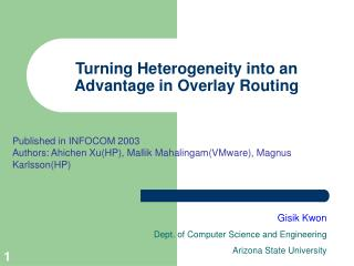 Turning Heterogeneity into an Advantage in Overlay Routing