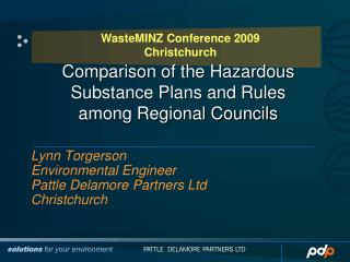 Comparison of the Hazardous Substance Plans and Rules  among Regional Councils