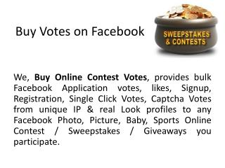 Buy Votes On Facebook