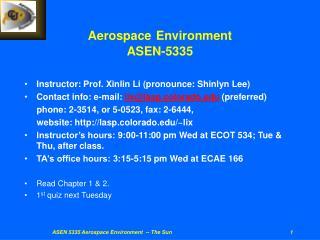Aerospace Environment ASEN-5335