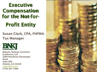 Executive Compensation for the Not-for-Profit Entity