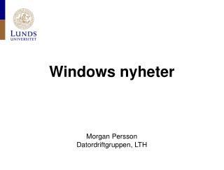 Windows nyheter