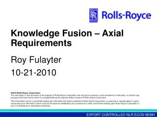 Knowledge Fusion – Axial Requirements