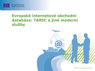 Evropské internetové obchodní databáze: TARIC a jiné moderní služby
