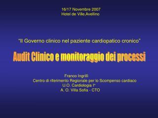 16/17 Novembre 2007  Hotel de Ville,Avellino