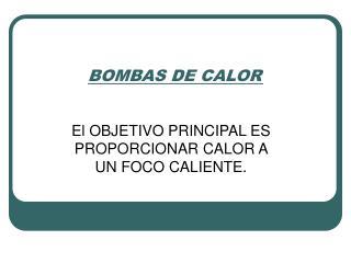 BOMBAS DE CALOR