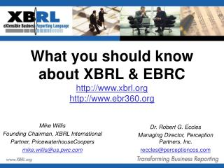 What you should know about XBRL & EBRC xbrl ebr360