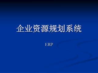 企业资源规划系统