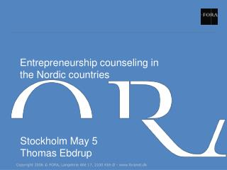 Entrepreneurship counseling in  the Nordic countries