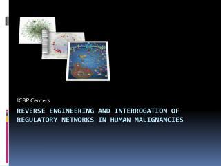 reverse engineering and interrogation of regulatory networks in human malignancies