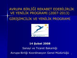 AVRUPA BİRLİĞİ REKABET EDEBİLİRLİK VE YENİLİK PROGRAMI (2007-2013)