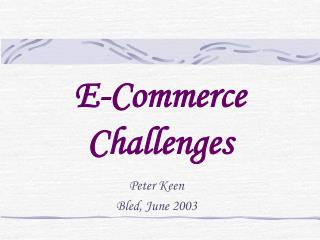 E-Commerce Challenges