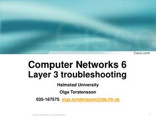 Computer Networks 6  Layer 3 troubleshooting