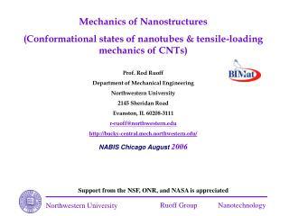 Mechanics of Nanostructures