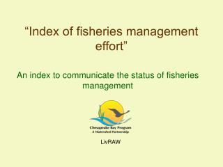 """Index of fisheries management effort"""