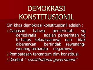 DEMOKRASI KONSTITUSIONIL